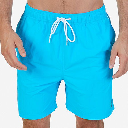 Quick Dry Nylon Swim Trunk - Lake Mist