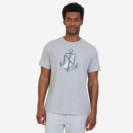Sailing Flags Sleep T-Shirt - Grey Heather