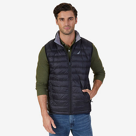 Reversible Down Vest - True Black
