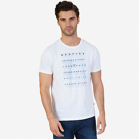 International Crew Race Graphic T-Shirt - Bright White