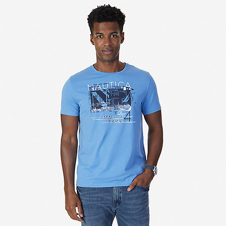 Quad Challenge Graphic T-Shirt - Riviera Blue
