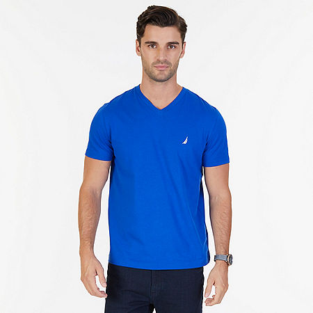 Solid V-Neck T-Shirt - Bright Cobalt