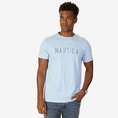 Nautica Logo Graphic T-Shirt - Washed Navy Heather
