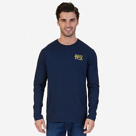 J Class Graphic Long Sleeve T-Shirt - Navy