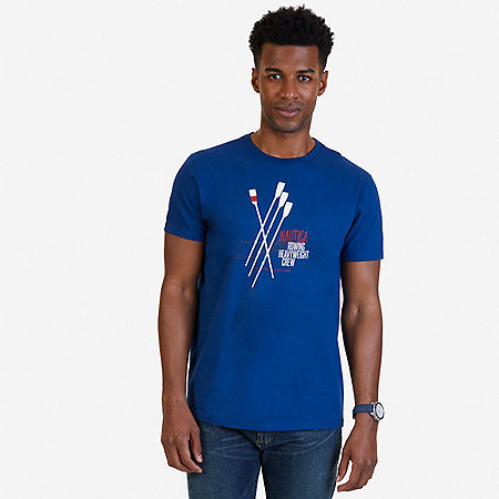 Rowing Heavyweight Graphic T-Shirt - Estate Blue