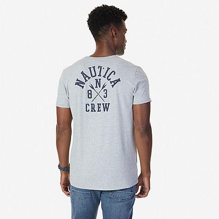 Nautica Crew Graphic T-Shirt - Grey Heather