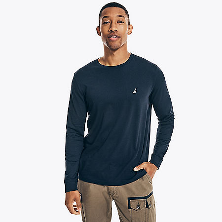 Solid Long Sleeve T-Shirt - Navy
