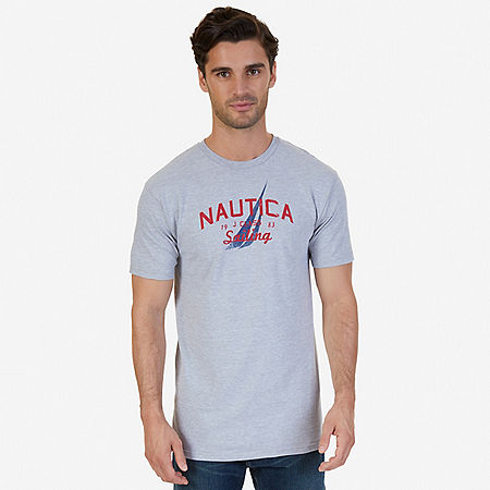 Sailing Graphic T-Shirt - Grey Heather