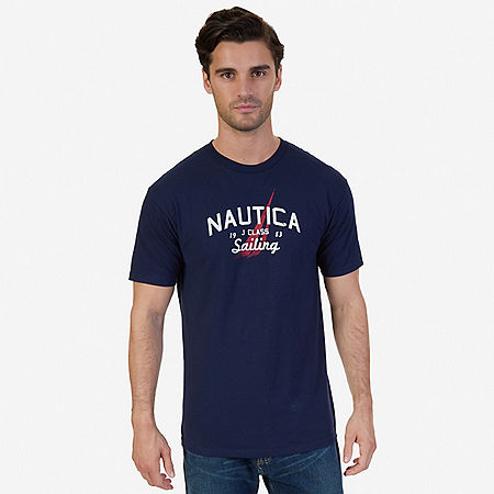 Sailing Graphic T-Shirt - Navy