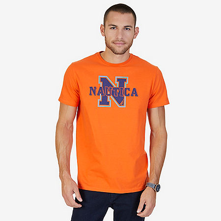 Logo Crew T-Shirt - Mack Orange