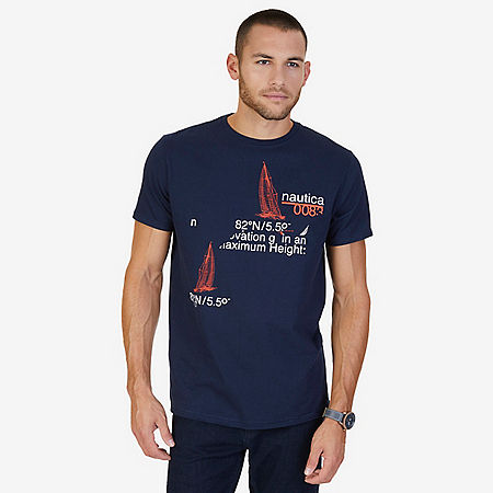 """Navigate Life"" Graphic T-Shirt - Navy"