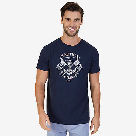 Sailing Co Graphic T-Shirt - Navy