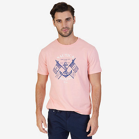 Sailing Co Graphic T-Shirt - Orange