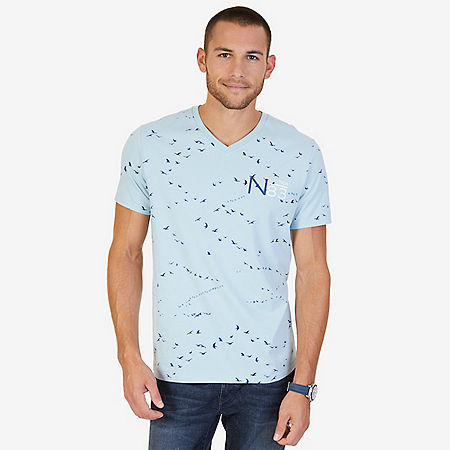 Seagulls Graphic T-Shirt - Bay Blue