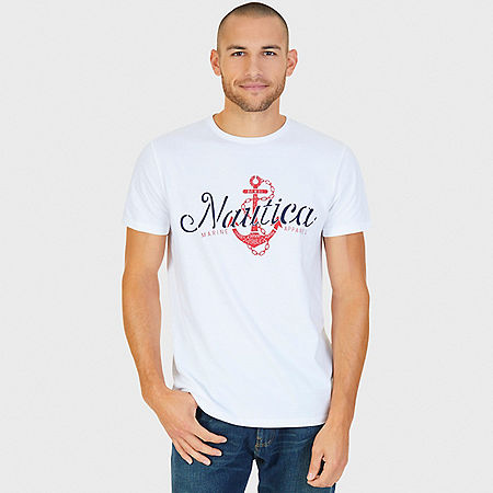 Anchor Graphic T-Shirt - Bright White
