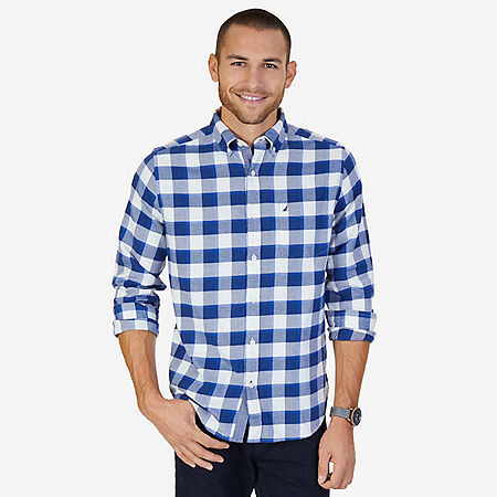 CASUAL FLANNEL TWILL PLAID - J Navy