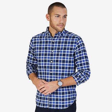 CLASSIC FIT  PLAID SHIRT - Peacoat