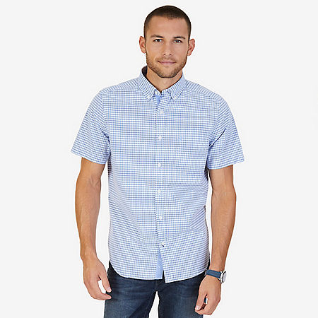 Classic Fit Gingham Shirt - Blue
