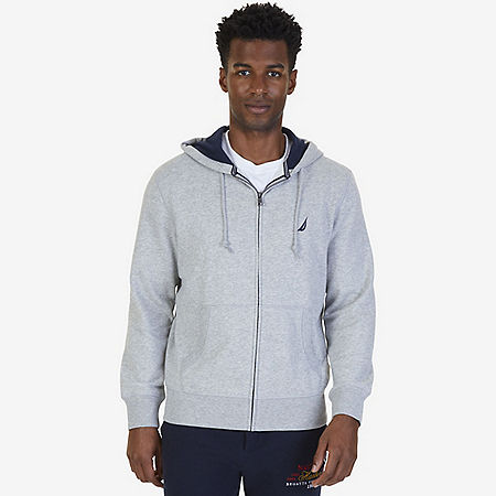 Nautica Big & Tall Hoodie - Grey Heather