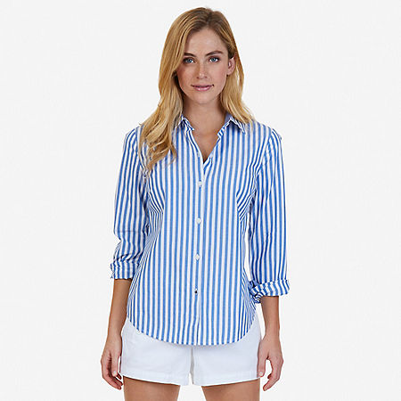 Striped Perfect Shirt - Naval Blue