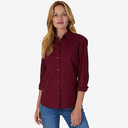 Solid Perfect Shirt - Port Scarlet