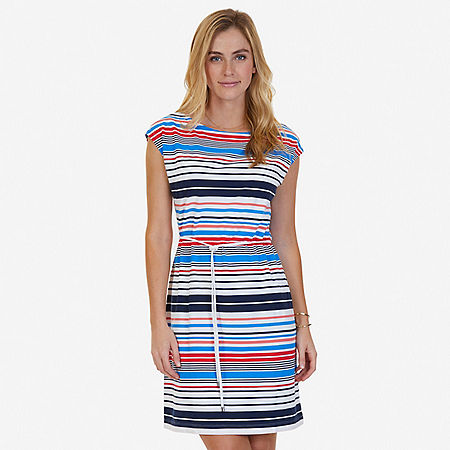 Striped Dress - Indigo Heather