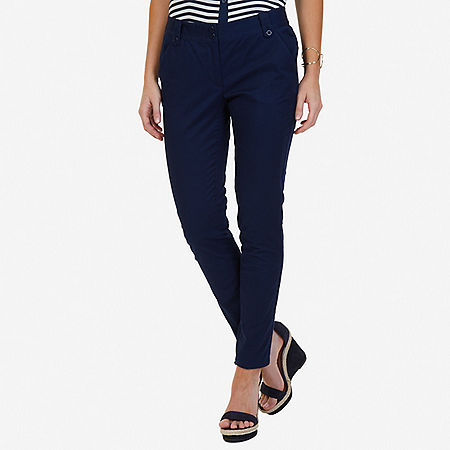 Stretch Twill Ankle Pant - Indigo Heather