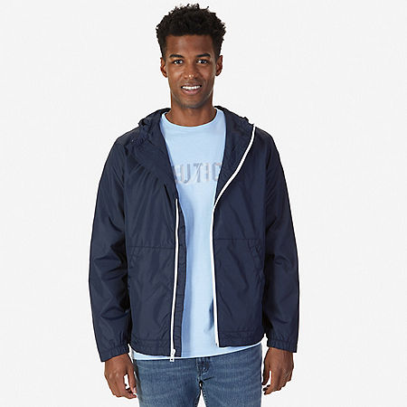 Water Resistant Bomber Jacket - Navy