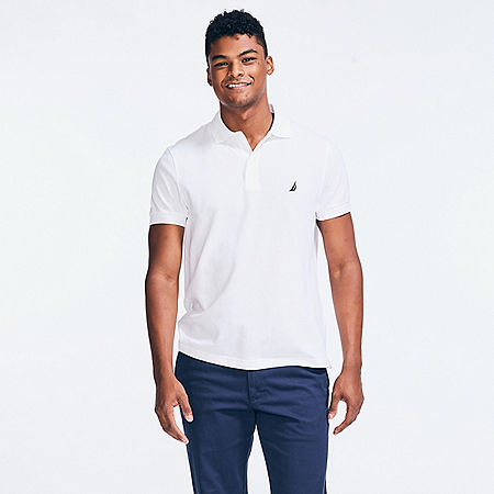 Slim Fit Deck Polo Shirt  - Bright White