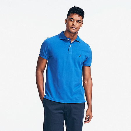 Slim Fit Deck Polo Shirt  - Bright Cobalt