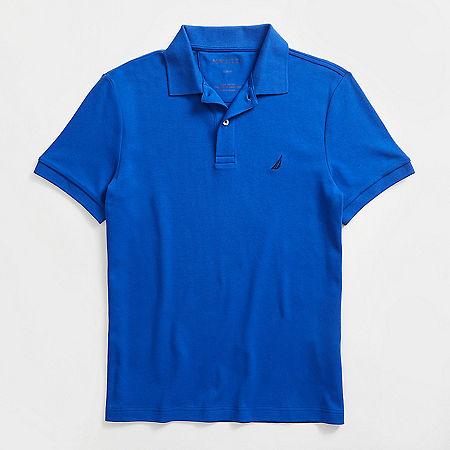 Slim Fit Interlock Polo Shirt - Bright Cobalt