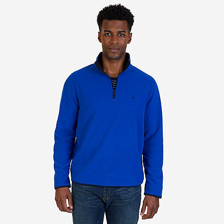 Quarter Zip Nautex Fleece - Bright Cobalt