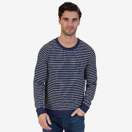 Snowy Small Striped Sweater - Ice Blue