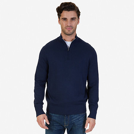 Quarter-Zip Sweater - Navy