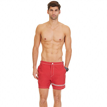 Quick Dry Contrast Stripe Swim Trunk - Nautica Red