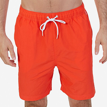 Quick Dry Nylon Swim Trunk - Orange Poppy