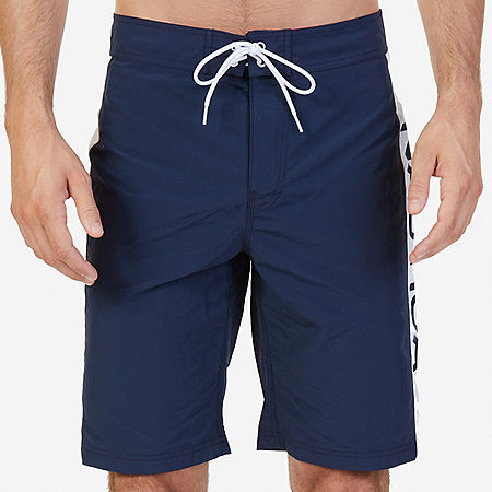 Quick Dry Signature Stripe Board Shorts - Navy