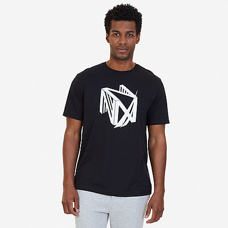 Dimension Logo Sleep T-Shirt - True Black
