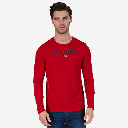 Signature Anchor Graphic Long Sleeve T-Shirt - Nautica Red