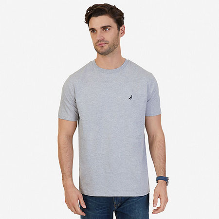 Classic Crew Tee - Grey Heather