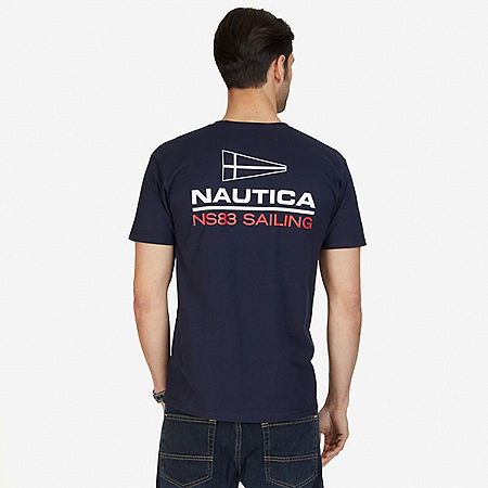 NS83 Sailing Graphic T-Shirt - Navy