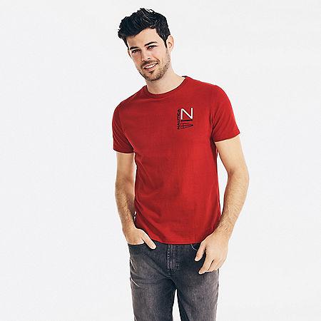 NS83 Sailing Graphic T-Shirt - Nautica Red