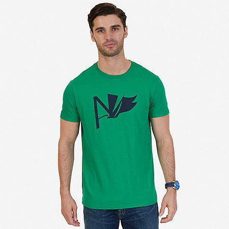 J Class Abstract Graphic T-Shirt - Sonic Green