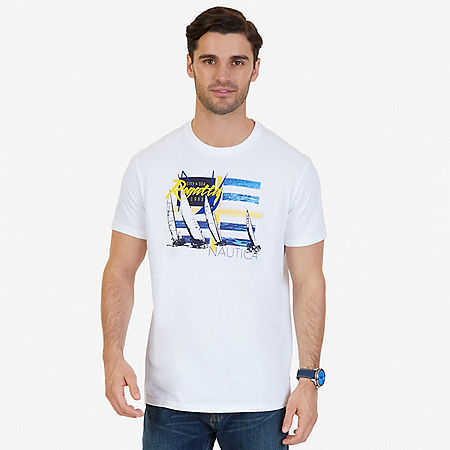 Regatta Graphic T-Shirt - Bright White