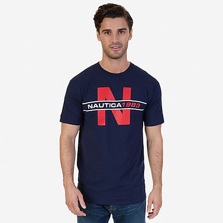N 1983 Graphic T-Shirt - Navy