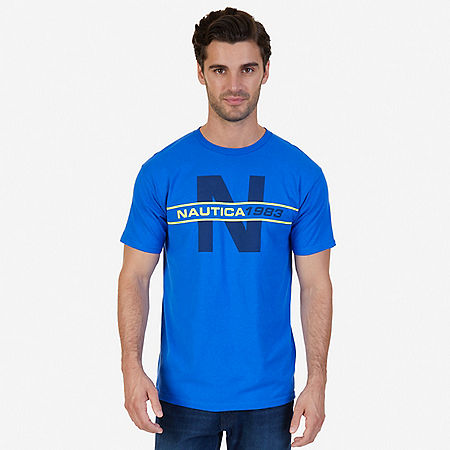 N 1983 Graphic T-Shirt - Bright Cobalt
