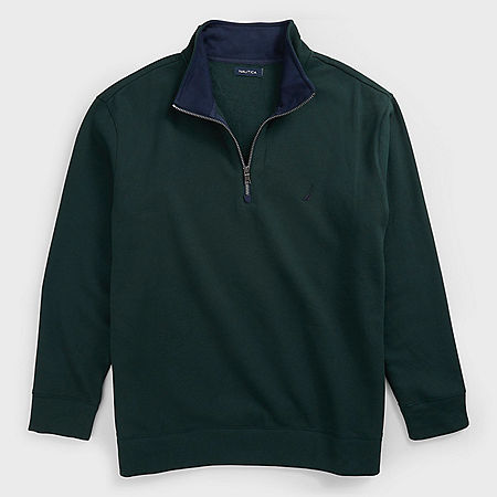 Big & Tall Active Fit Quarter Zip Fleece - Kelp Seas