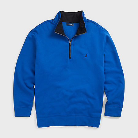 Big & Tall Active Fit Quarter Zip Fleece - Clear Skies Blue
