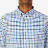Classic Fit French Plaid Oxford Shirt,Blue Grass,small