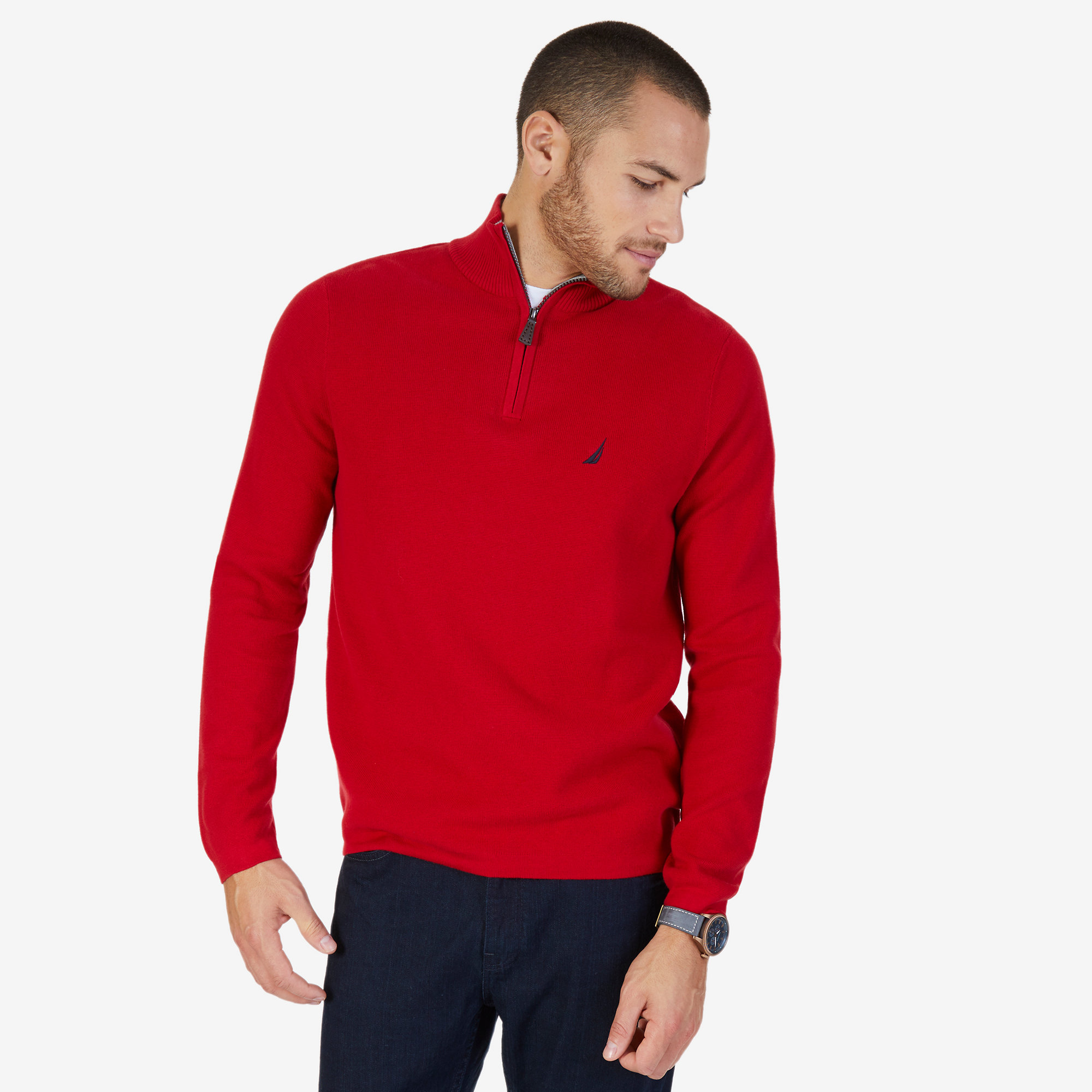 Quarter Zip Pullover Sweater | Nautica
